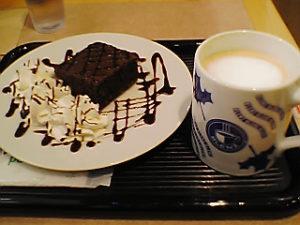 「イオン東雲店」に昔あったカフェのお気に入りセット(2006年12月1日撮影)